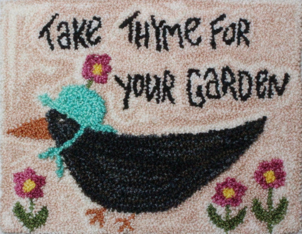 Take Thyme - Crow Punch Needle Pattern or Punch Needle Kit