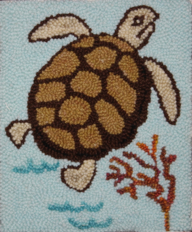 Thomas Turtle - Turtle Rug Punch Pattern and Rug Punching Kit