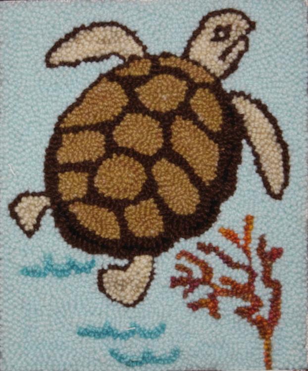 Thomas Turtle - Turtle Rug Punch Pattern and Rug Punching Kit