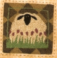 Tulip Fields - Sheep Punch Needle Pattern and Punch Needle Kit