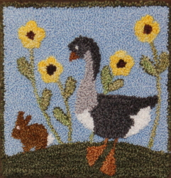 Unique Friendship - Goose and Bunny Punch Needle Pattern or Punch Needle Kit