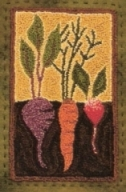 Vegetable Garden  - Vegetable Punch Needle Pattern and Punch Needle Kit