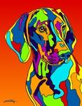 Vizsla - Michael Vistia Dog Rug Hooking Pattern & Dog Rug Punching Pattern