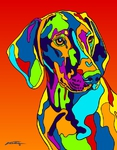 Visula - Michael Vistia Dog Rug Hooking Pattern & Dog Rug Punching Pattern