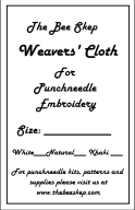 Weavers Cloth - Punchneedle Supplies