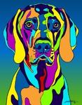 Weimeraner - Michael Vistia Dog Rug Hooking Pattern & Dog Rug Punching Pattern