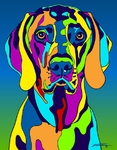 Weimeraner - Michael Vistia Dog Punch Needle