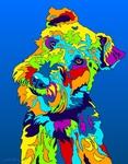 Welsh Terrier - Michael Vistia Dog Rug Hooking Pattern & Dog Rug Punching Pattern