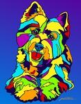 West Highland Terrier - Michael Vistia Dog Rug Hooking Pattern & Dog Rug Punching Pattern