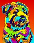 Wheaton Terrier - Michael Vistia Dog Rug Hooking Pattern & Dog Rug Punching Pattern