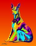Whipit - Michael Vistia Dog Rug Hooking Pattern & Dog Rug Punching Pattern