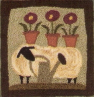 Wooly Gardener - Sheep Punch Needle Pattern or Punch Needle Kit