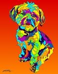 Yorkie - Michael Vistia Dog Rug Hooking Pattern & Dog Rug Punching Pattern