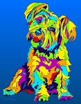Yorkie 2 - Michael Vistia Dog Rug Hooking Pattern & Dog Rug Punching Pattern