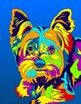 Yorkie 3 - Michael Vistia Dog Rug Hooking Pattern & Dog Rug Punching Pattern