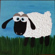 Bobby - Sharon Segal Sheep Rug Hooking Pattern
