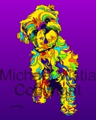 Brussels Griffon -2  - Michael Vistia Dog Rug Hooking Pattern & Dog Rug Punching Pattern