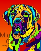 Bullmastiff - Michael Vistia Dog Rug Hooking Patterns & Rug Punching Patterns/kits