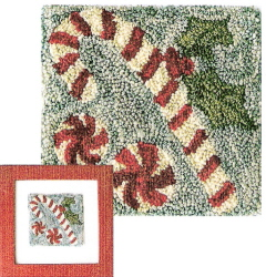 Candy Cane Punch Needle Pattern and Punch Needle Kit