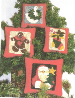 Christmas Ornament/Pillows Punch Needle Pattern and Punch Needle Kit