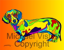 Dachshund 2 - Michael Vistia Dog Rug Hooking & Rug Punching