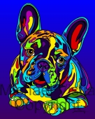 French Bulldog 3 - Michael Vistia Dog Punch Needle Pattern & Dog Punch Needle Kits