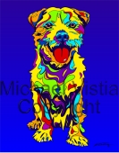 Mixed Breed - 10 - Michael Vistia Dog Punch Needle Pattern or Michael Vistia Dog Punch Needle Kit