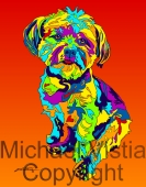 Mixed Breed -13 - Michael Vistia Dog Punch Needle Pattern or Michael Vistia Dog Punch Needle Kit