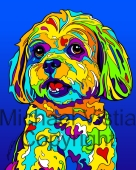 Mixed Breed - 01 - Michael Vistia Dog Punch Needle Pattern or Michael Vistia Dog Punch Needle Kit