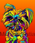 Mixed Breed - 02 - Michael Vistia Dog Punch Needle Pattern or Michael Vistia Dog Punch Needle Kit