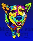 Mixed Breed - 08 - Michael Vistia Dog Punch Needle Pattern or Michael Vistia Dog Punch Needle Kit