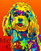 Mixed Breed - 09 - Michael Vistia Dog Punch Needle Pattern or Michael Vistia Dog Punch Needle Kit