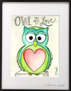 Love Owl - Sharon Segal Owl Rug Hooking Pattern