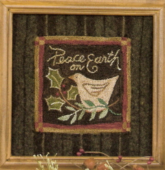 Peace on Earth - Punchneedle Pattern and Punchneedle Kit
