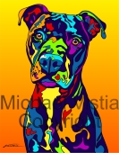 Pitbull Terrier 3 - Michael Vistia Dog Punch Needle Pattern & Dog Punch Needle Kits