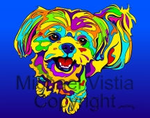 Shih Tzu 2 - Michael Vistia Dog Punchneedle Patterns & Dog Punch Needle Kits
