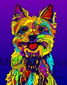 Yorkie 4 - Michael Vistia Dog Punch Needle Patterns & Dog Punch Needle Kits